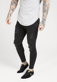 SIKSILK - DISTRESSED SUPER  - Jeans Skinny Fit - black - 0