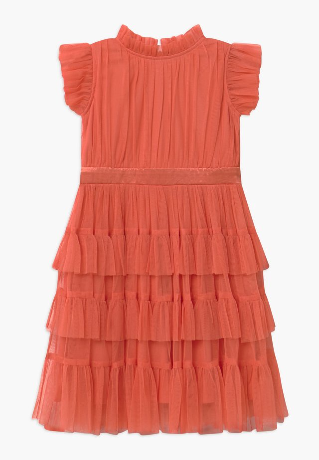 Cocktail dress / Party dress - coral orange