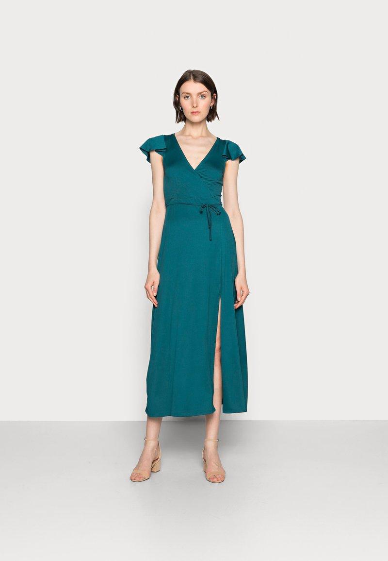 Anna Field - WRAP MIDI DRESS - Day dress - teal
