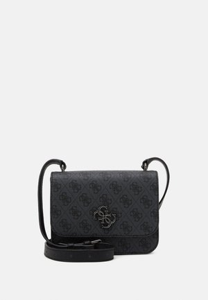NOELLE MINI CROSSBODY FLAP - Schoudertas - coal