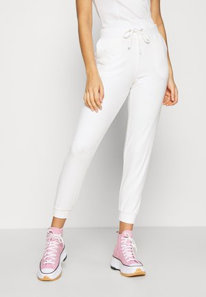 ANDREA HIGH WAIST JOGGERS - Träningsbyxor - cloud dancer