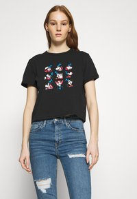 Levi's® - DISNEY MICKEY AND FRIENDS - Print T-shirt - black - 0