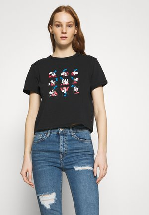 DISNEY MICKEY AND FRIENDS - T-shirt imprimé - black