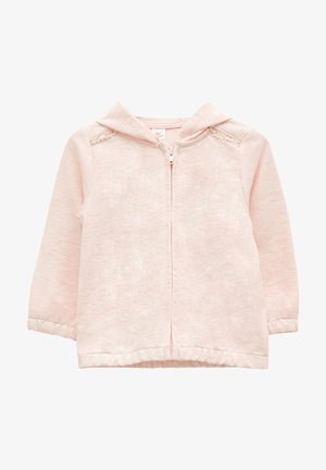 Sweater met rits - pink