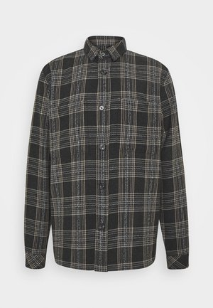 WALTONES OVERSHIRT - Shirt - black