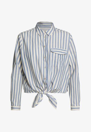 SLFZENIA PETITE - Button-down blouse - country blue/sandshell