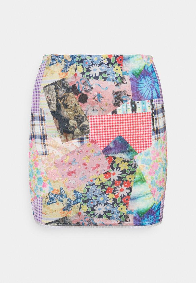 NEW girl ORDER - COTTAGE MIXED PRINT - Mini skirt - multi