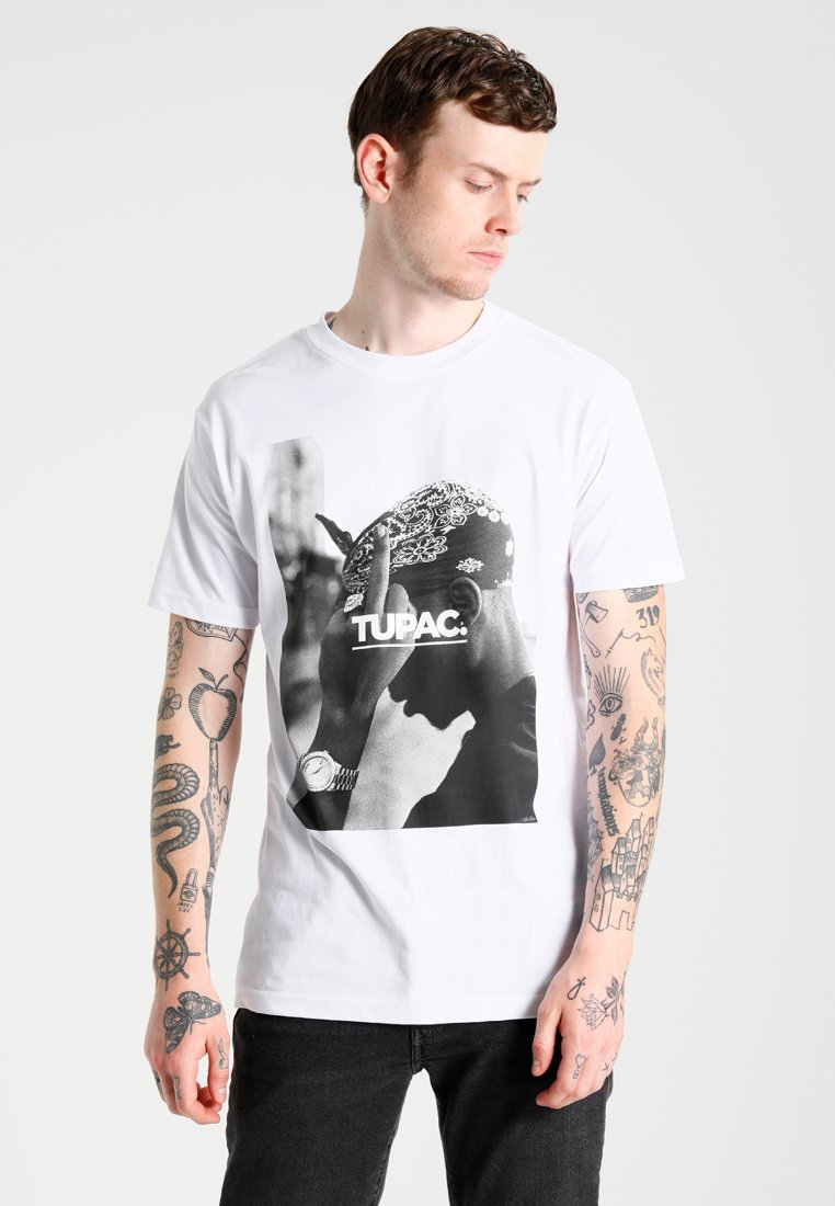 Mister Tee - 2PAC  - Print T-shirt - white