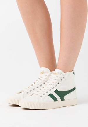TENNIS MARK COX  - Sneakersy wysokie - offwhite/dark green