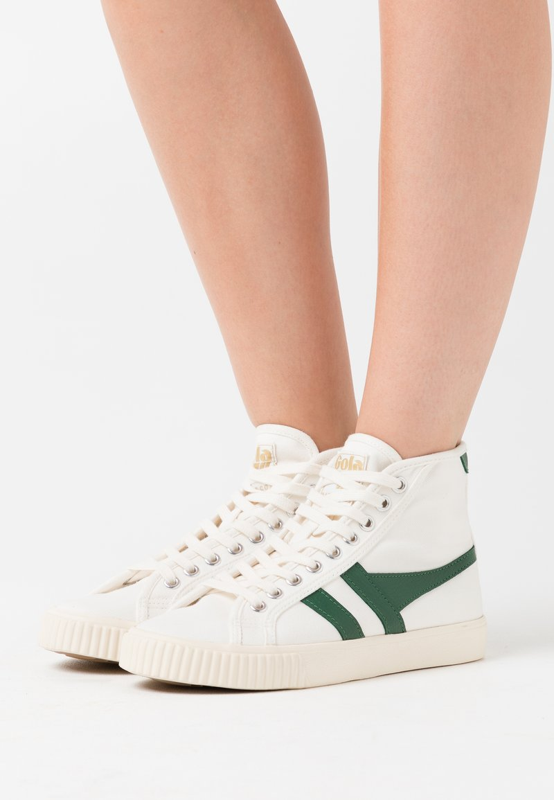 Gola - TENNIS MARK COX  - Sneakersy wysokie - offwhite/dark green