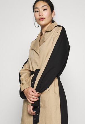 OBJKUNA JACKET - Trenchcoat - incense/black