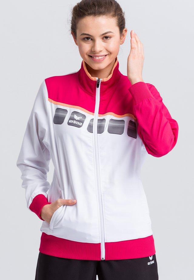 Sports jacket - white/pink