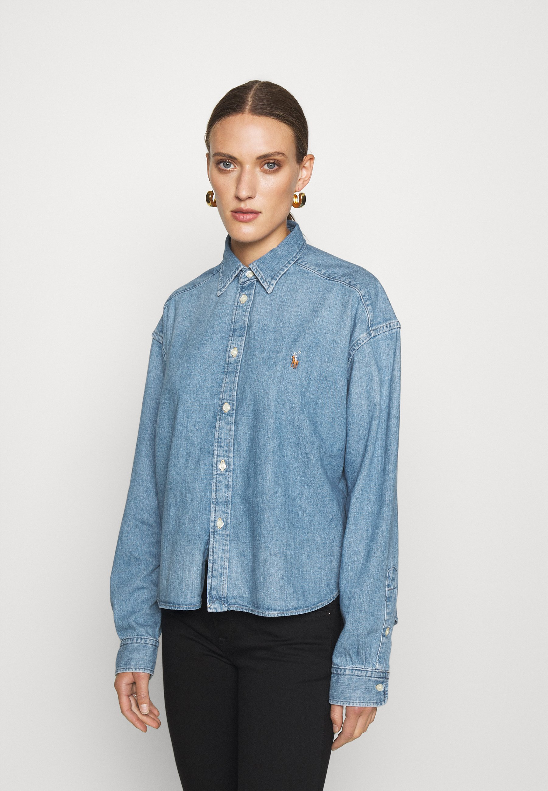 Donna LONG SLEEVE BUTTON FRONT SHIRT - Camicia