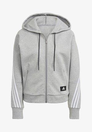 ADIDAS SPORTSWEAR WRAPPED 3-STRIPES FULL-ZIP HOODIE - Zip-up sweatshirt - grey