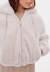 Bershka - Fleece jacket - beige - 3