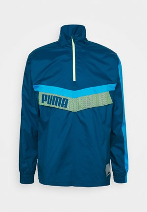 TRAIN ZIP JACKET - Windbreaker - blue/fizzy yellow