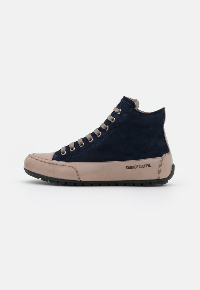PLUS  - High-top trainers - navy/tamponato stone
