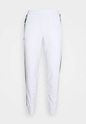 PANT TAPERED - Tracksuit bottoms - white/navy blue