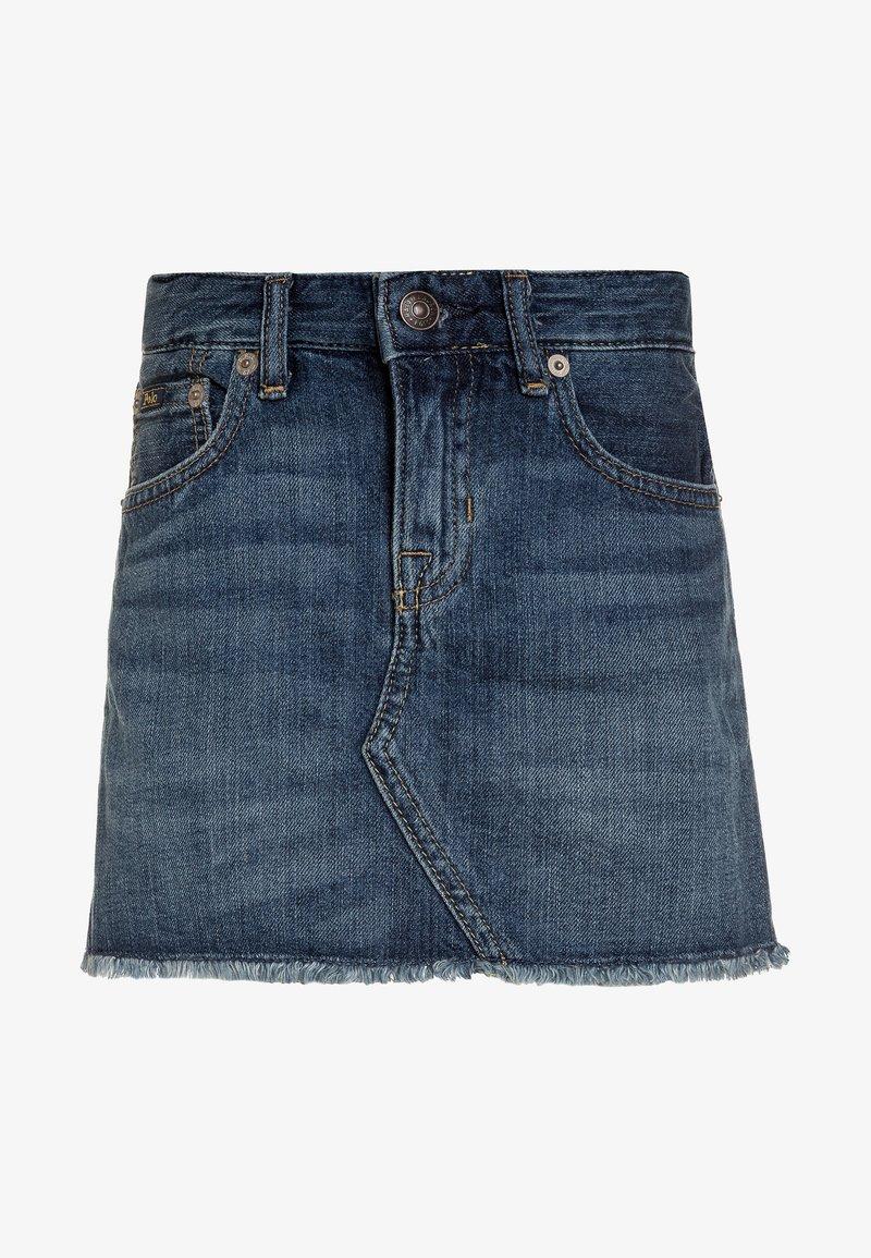 Polo Ralph Lauren - SKIRT - Denimová sukně - bales wash