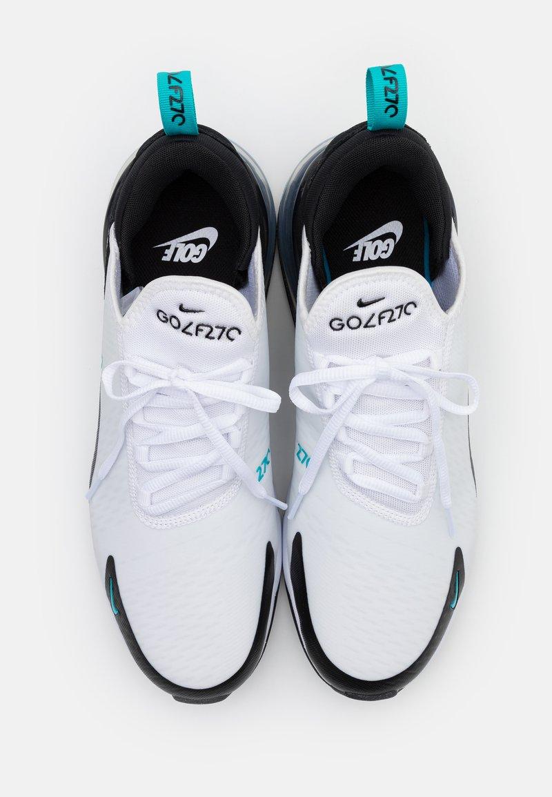 Nike Golf Air Max 270 G Golf Shoes White Dusty Cactus Black Metallic Silver Zalando Co Uk