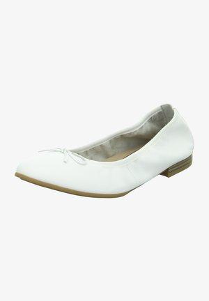 Foldable ballet pumps - weiß