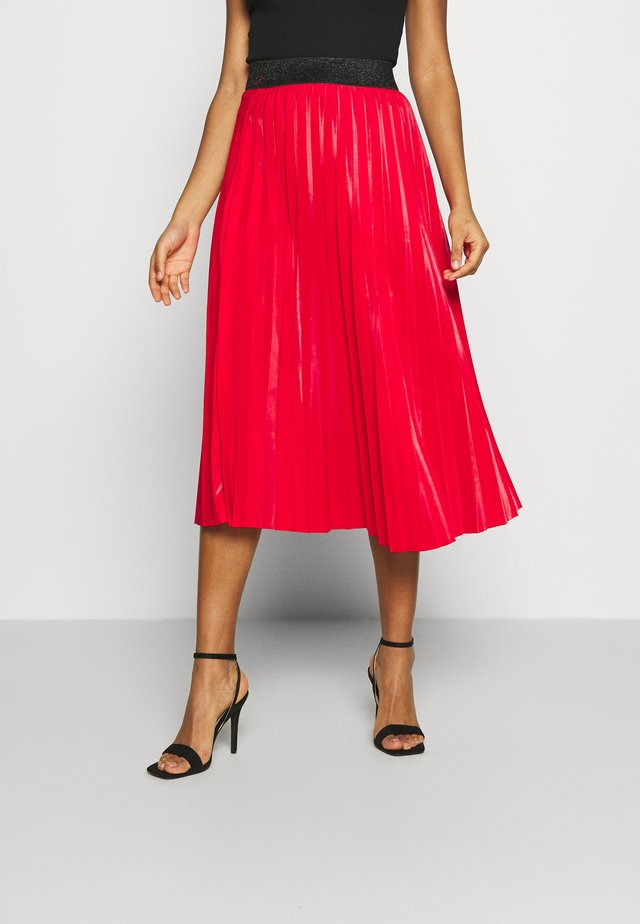 MONICA PLEATED SKIRT - Jupe trapèze - red