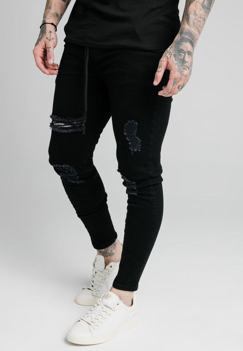 SIKSILK - Jeans Skinny Fit - black
