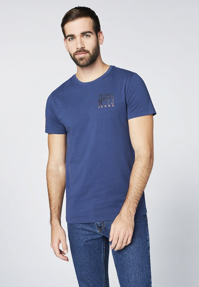 Print T-shirt - insignia blu