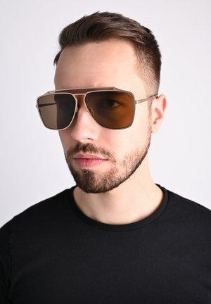 RETRO - Sunglasses - gold/braun