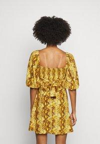 Faithfull the brand - MARTINE MINI DRESS - Denní šaty - dark yellow - 2
