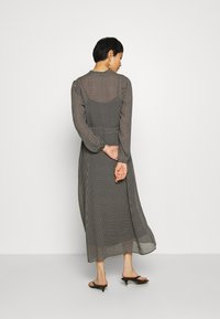 Marc O'Polo - DRESS LONG STYLE BELTED WAIST DETAILED NECKLINE - Sukienka letnia - black