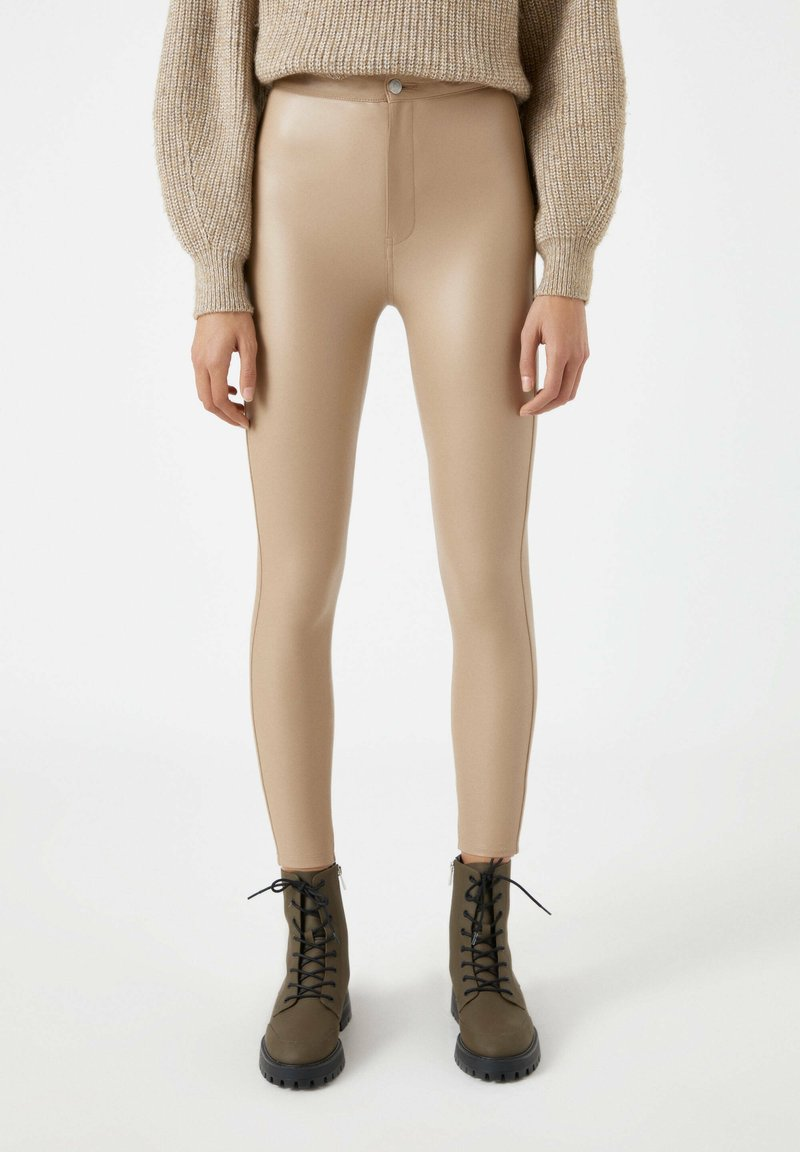 PULL&BEAR - Leggings - Trousers - beige