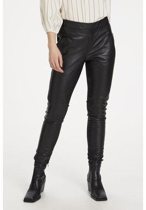 Leather trousers - black deep