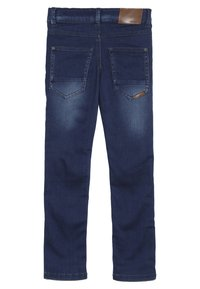 Name it - NKMTHEO PANT - Straight leg jeans - dark blue denim - 1