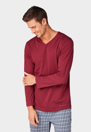 Pyjama top - red-dark-solid