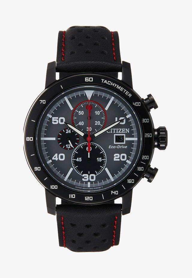 Chronograph watch - schwarz/rot
