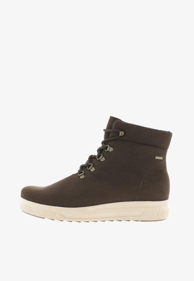KÄPÄLÄ - HIGH-TOP TRAINERS - Sneakers hoog - dark brown