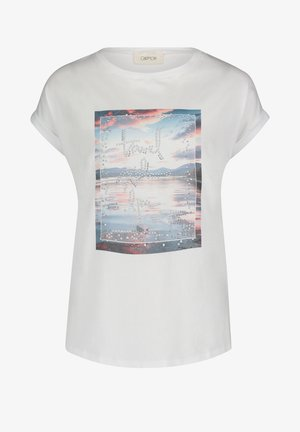 T-shirt imprimé - weiß/blau