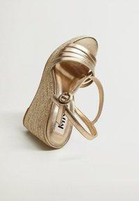 Mango - GIRL - High heeled sandals - oro - 4