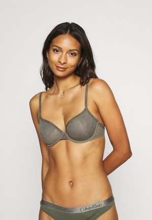 SHEER MARQ TROPICAL LIGHTLY LINED DEMI - Underwired bra - platinum grey