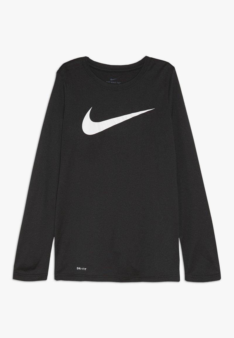 Nike Sportswear - DRY TEE SOLID - Pitkähihainen paita - black