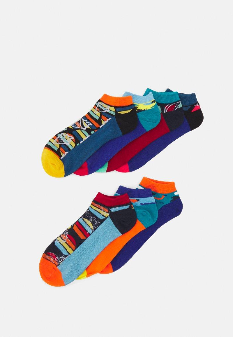 Jack & Jones - JACSUMMER THING SHORT SOCK 7 PACK - Socks - teal blue/persimmon orange