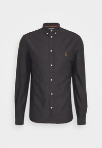 Les Deux - OLIVER OXFORD SHIRT - Shirt - black/charcoal - 4