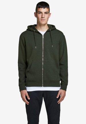 JJESOFT ZIP HOOD - Sweater met rits - rosin
