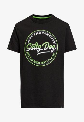 SALTY DOG - Print T-shirt - black