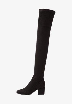 ISAAC - Overknee laarzen - black