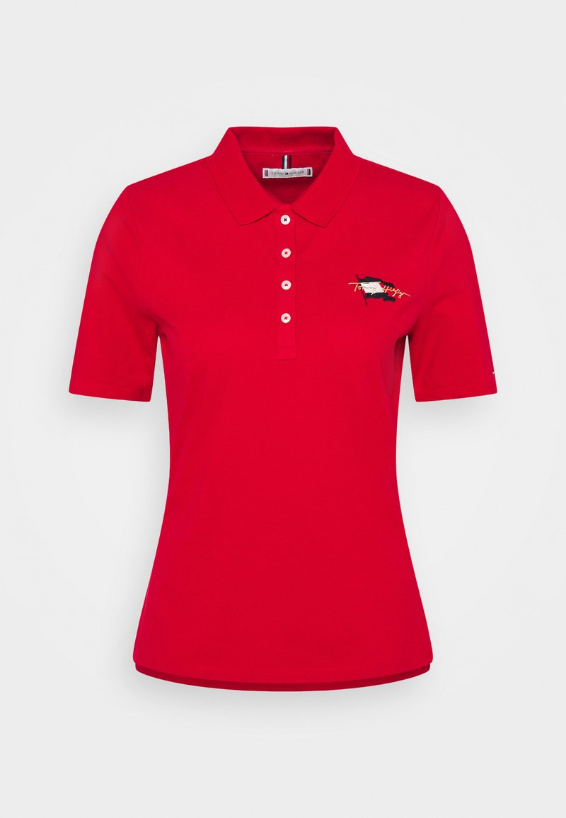 Tommy Hilfiger - REGULAR FLAG - Polo shirt - primary red