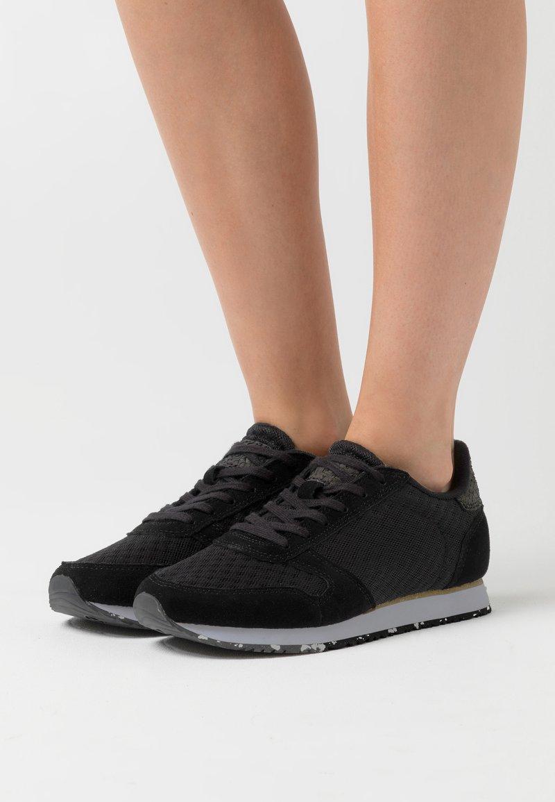 Woden - YDUN SUEDE MESH II - Sneakers laag - black