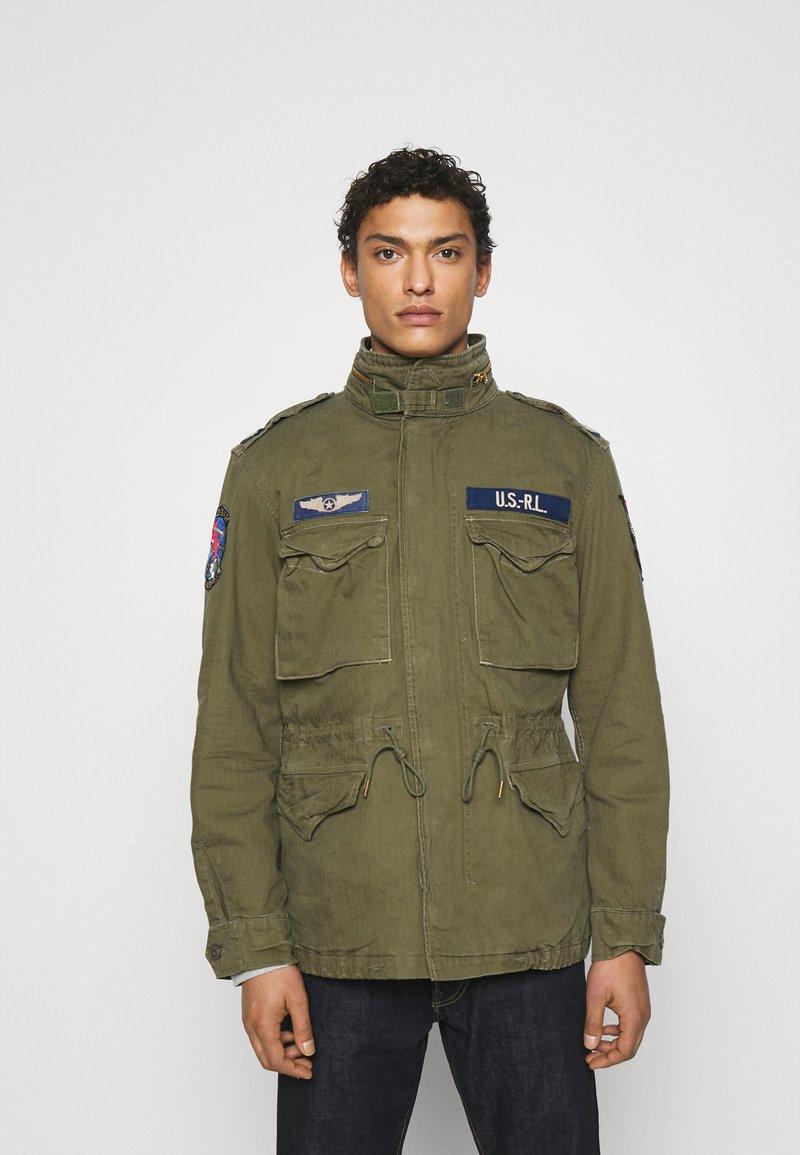 Polo Ralph Lauren - HERRINGBONE FIELD JACKET - Summer jacket - soldier olive