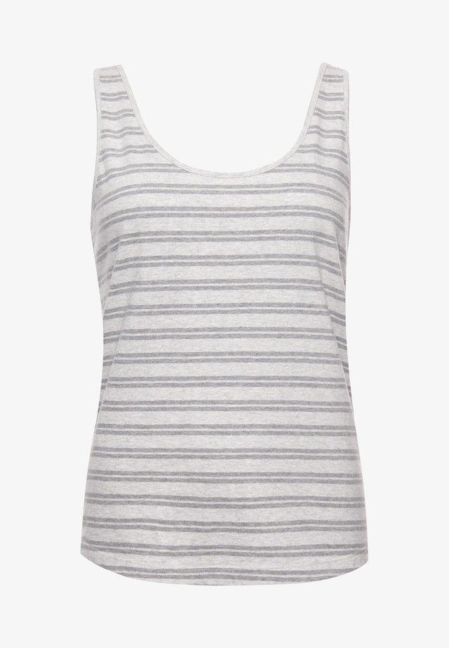 Top - grey marl stripe